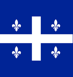 quebec flag vector image