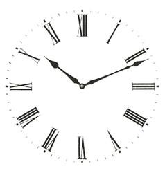 Roman numeral clock vector