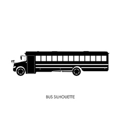 School bus black silhouette vector
