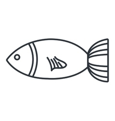 Seafood gastronomy black and white vector