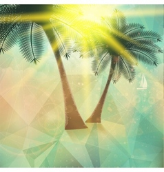 Seaside view poster Geometric abstract vector image