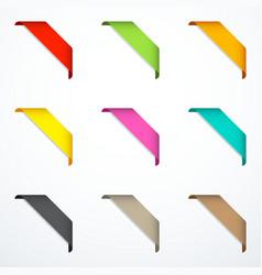 Set corner ribbons vector