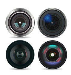 Set of Photo Lens isolated on white background vector