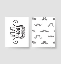 set of templates for fashion cards hand drawn vector image vector image