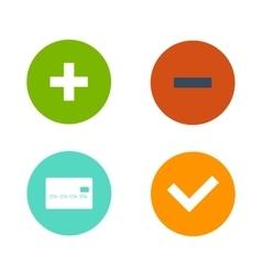 Shop buttons internet label set vector