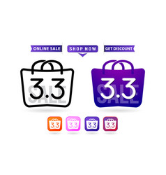 Shopping bag 33 sale handbag 33 woman months vector