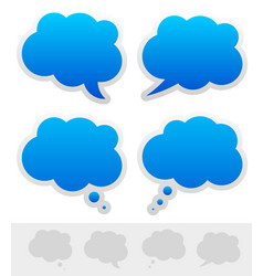 speech and thought bubble shapes vector image
