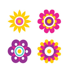 springtime flowers cartoon vector image
