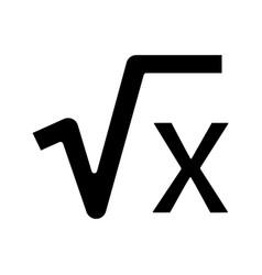 Square root x glyph icon vector