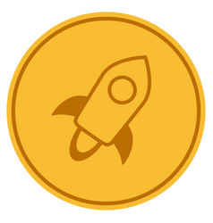 Stellar currency gold coin vector
