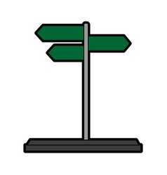 Street sign icon image vector