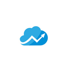 technology connect with arrow across the clouds vector image
