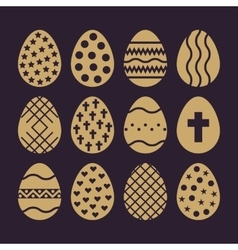 The egg and easter 12 icon Easter egg symbol UI vector image