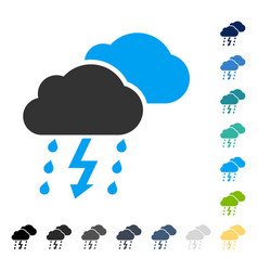 Thunderstorm icon vector