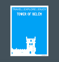 tower of belem lisbon portugal monument landmark vector image