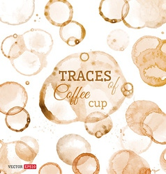 Traces of coffee cup vector