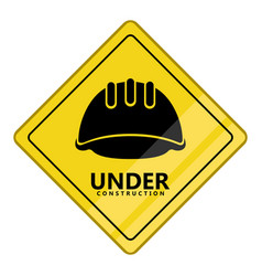 under construction transit signal vector image
