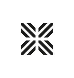 Unusual geometric letter X Architecture vector