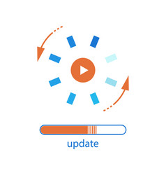 Update system loading process vector