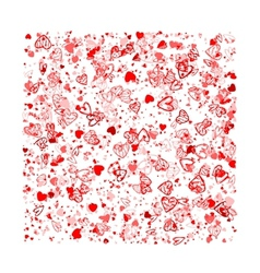 Valentine background for your design vector image vector image