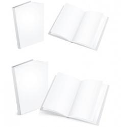 white books vector image