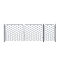 Wired fence or chain link fencing metal enclosure vector