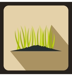 Young sprout seedlings icon flat style vector
