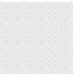 3d grey Seamless Pattern in Oriental style vector image vector image