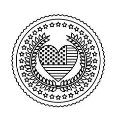 symbol american seal sign icon vector image
