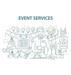 Doodle style design concept of special event and vector image vector image