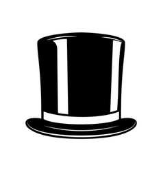 vintage gentleman hat isolated on white vector image