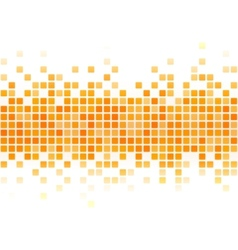 Abstract yellow pixel background vector image vector image