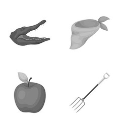 Animal vegetarianism and other monochrome icon in vector