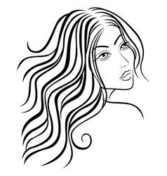 Beautiful women sketching head vector image