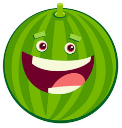 cartoon watermelon fruit character vector image vector image