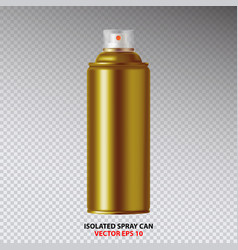 golden paint aerosol spray metal bottle can vector image vector image