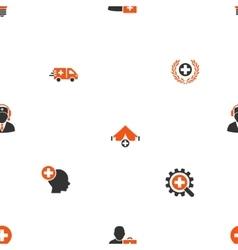 Medicine Seamless Flat Wallpaper vector image