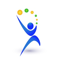 Person in motion logo vector image vector image