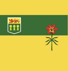 saskatchewan flag vector image