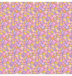 Seamless abstract spiral pattern vector image vector image