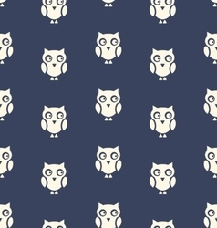 Seamless Pattern with Bird Owl for Halloween vector image vector image