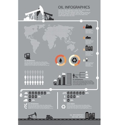 Set of infographics elements Oil icons vector image