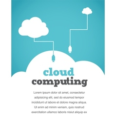 vintage style cloud computing poster vector image
