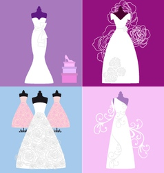 wedding dresses bridal gowns vector image vector image