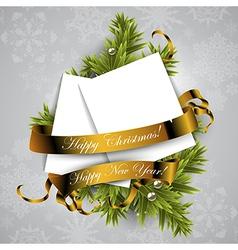 Christmas wreath design vector image
