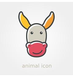 Donkey icon farm animal vector