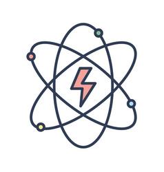 energy hazard symbol of power industry with orbits vector image vector image