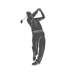 golf sport silhouette vector image vector image