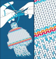 knit cap vector image vector image