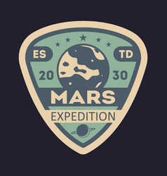 martian expedition vintage isolated label vector image vector image